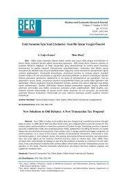 Eski Sorunlar İçin Yeni Çözümler: Yeni Bir İşlem Vergisi Önerisi New ...