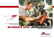 MSF Jahresbericht 2010 - Ärzte ohne Grenzen