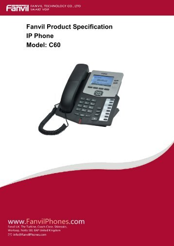 Fanvil C60 Datasheet - VOIP Phones by Fanvil Phones