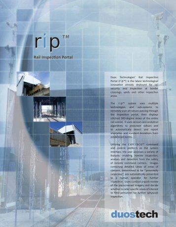 Rail Inspection Portal Rail Inspection Portal - Duos Technologies