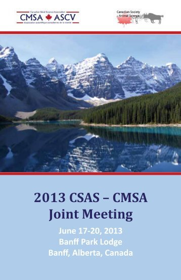 2013 CSAS – CMSA Joint Meeting - American Society of Animal ...