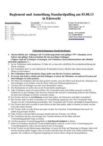 Download Standardreglement / Anmeldung 2013 - bremswagen