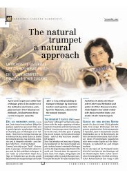 The natural trumpet a natural approach - Susan Williams
