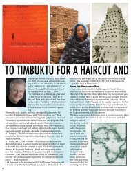 TO TIMBUKTU FOR A HAIRCUT AND OTHER HAIR-RAI