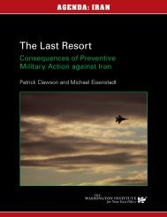 The Last Resort - The Washington Institute for Near East Policy