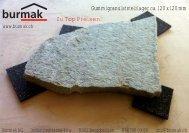 Flyer Gummigranulat-Stelzlager - Burmak AG