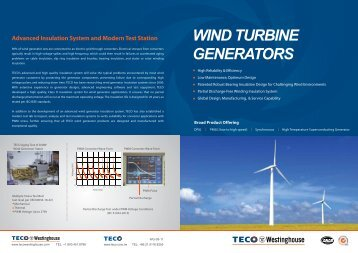 Gencon r wexler the generator set controllers company for Teco westinghouse motor catalog