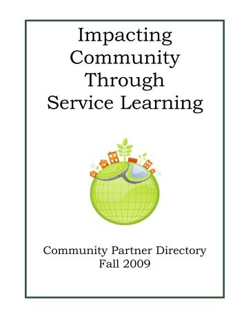 IMPACTING COMMUNITY THROUGH SERVICE-LEARNING