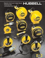 Electric Cord and Cable Reels - Hubbell Wiring Device-Kellems