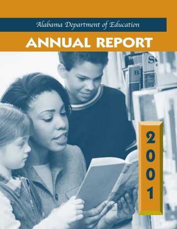 Annual Report 2001 - Alabama Department of Education