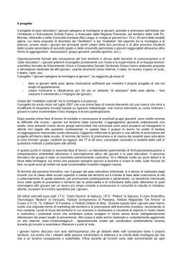 La prima fase del progetto - Il Portale Italiano dell'Educazione ...