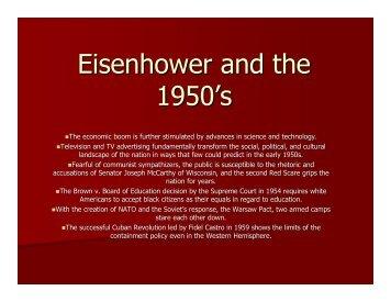 37 The Eisenhower Eara.pdf - Saratoga High School