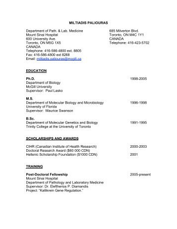 Curriculum Vitae Deborah Monique Buehler University Of Toronto