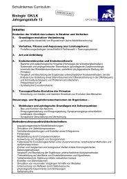 Schulinternes Curriculum Biologie GK/LK Jahrgangsstufe 13
