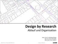 Design by Research - InfAR - Bauhaus-Universität Weimar