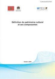 Définition du patrimoine culturel et ses composantes: document ...