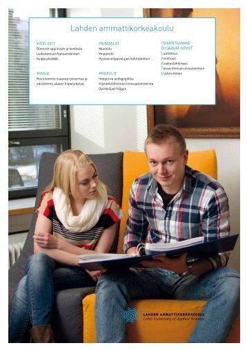 Faktakortti 2012 - Lahden ammattikorkeakoulu