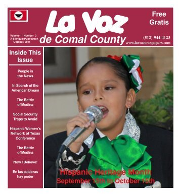 La Voz de Comal County October 2011.pmd - La Voz Newspapers