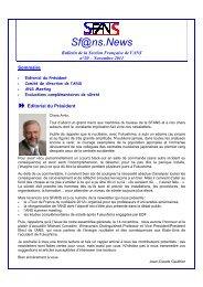 Newsletter n° 20 - novembre 2011 - 9 novembre soirée - SFEN