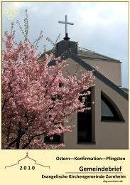 Ostern 2010 - Ev. Kirchengemeinde Zornheim
