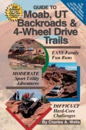 FREE PREVIEW Utah Moab Backroads and 4WD Trails 2nd Edition