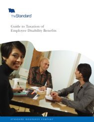 Guide to Taxation of Employee Disability Benefits - The Standard