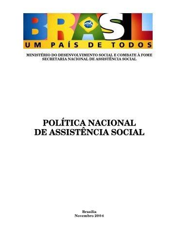 política nacional de assistência social – pnas - UNIPAMPA Cursos