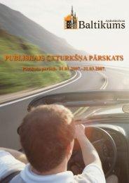 Finanšu rādītāji par 2007.gada 1. ceturksni - Baltikums
