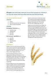 ZÖLIAKIE Antikörperbestimmung für die Erstdiagose bei ... - InVitaLab