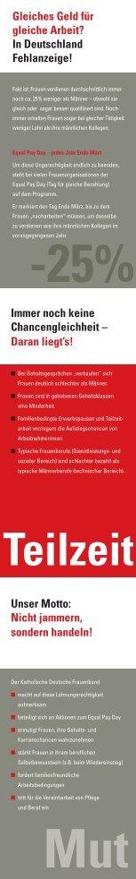 Faltblatt zum Equal Pay Day - Katholischer Deutscher Frauenbund ...