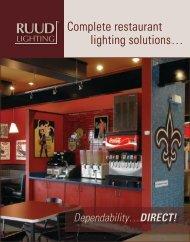 Complete restaurant lighting solutions… - Ruud Lighting Direct
