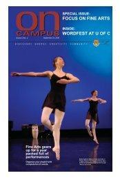 FOCUS ON FINE ARTS WORDFEST AT U OF C - University of Calgary