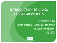 INTRODUCTION TO U VISA CONSULAR PROCESS - asista