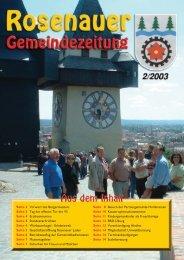 02. Ausgabe 2003 (0 bytes) - Rosenau am Hengstpaß
