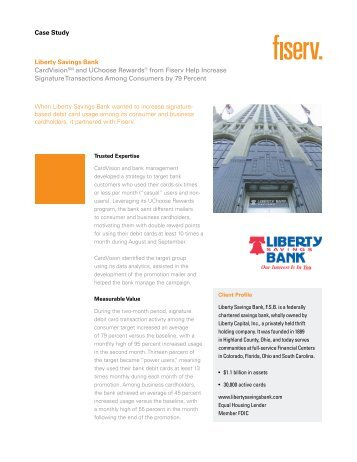 Liberty Savings Bank - Card Solutions - Fiserv