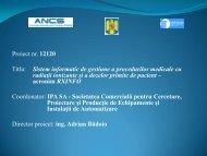 Sistem informatic de gestiune a procedurilor medicale cu radiatii