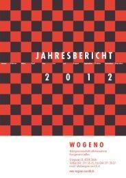 Jahresbericht 2012 - Wogeno Zürich
