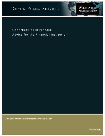 Opportunities in Prepaid: Advice for the Financial Institution - Accel