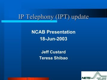 NCAB IPT Update - NETS