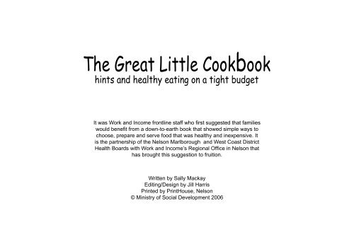 The Great Little Cookbook Pdf 1 06mb Work And Income