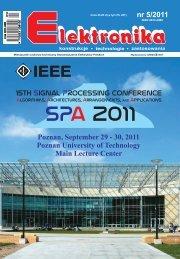 Elektronika 2011-05 I.pdf - Instytut Systemów Elektronicznych