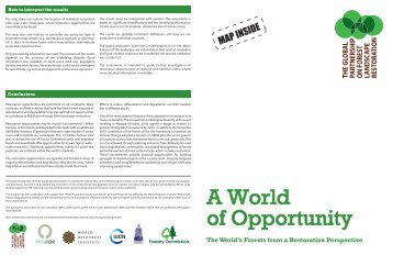 Brochure with map of restoration opportunities (Jan. 2011) - PROFOR