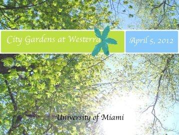 City Gardens at Westerra - Master in Real Estate Development + ...