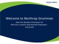 NHO 2011-2012 ES Rep Sunnyvale - Benefits Online - Northrop ...