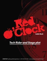 Tech Rider and Stage plot Indie Rock - La Plataforma