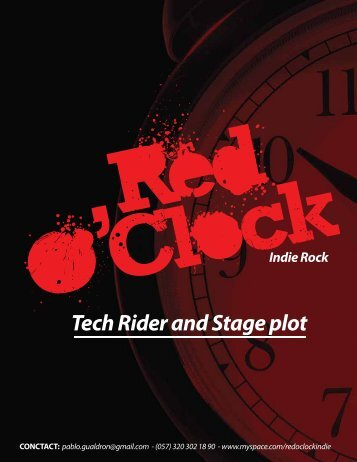 Tech Rider and Stage plot Indie Rock - La Plataforma