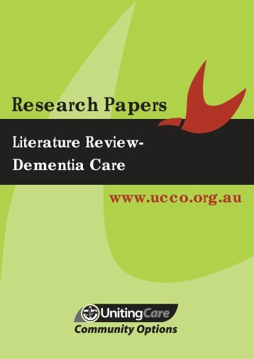 Literature Review Dementia Care - UnitingCare Community Options