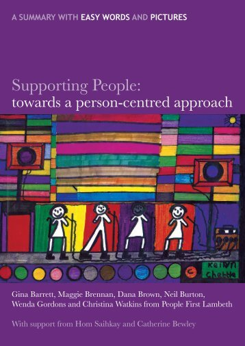describe how a person centred approach enables individuals with dementia to be involved in their own The person-centred approach as opposed to the other therapeutic approaches, the the helper is only meant to be a useful companion in the process person-centred therapy does not therefore as previously mentioned, the person-centered approach is founded on the belief that individuals can.