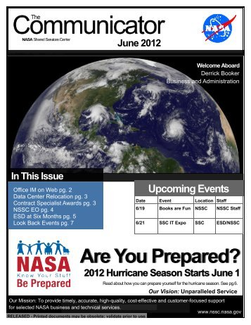 Are You Prepared? - NSSC Public Search Engine - Nasa