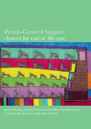 Choices for End of Life Care - Shaping Our Lives